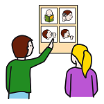 Pictograma de comunicar