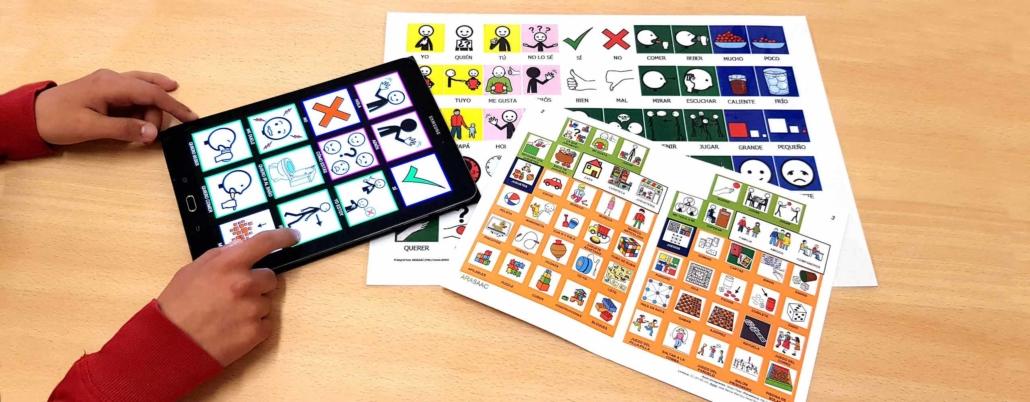 Productos de apoyo a la comunicación con el sistema pictográfico ARASAAC